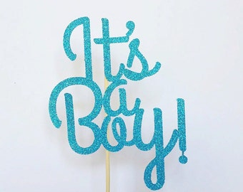 Captivating Itu0027s A Boy! Baby Shower Cake Topper, Glitter Baby Shower Cake Topper, Baby