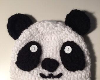 Homemade Panda Crochet Hat