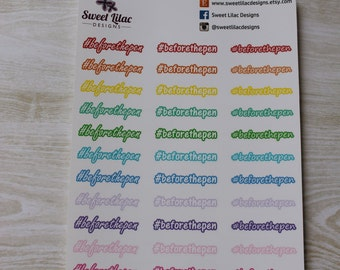 Themed Set: Hashtag Before the Pen - Planner Stickers