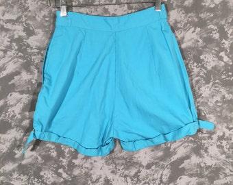 1950's Blue High-Waisted Shorts