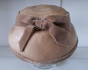 Vintage French Hat Cecile Mode Paris, 1940's-50's French Ladies Hat,
