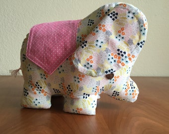 Elephant-Soft Fabric Toy and Pillow, Elephant-Stuffed Fabric Toy