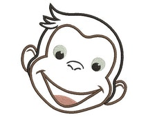 Curious George Face Outline
