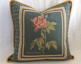Tapestry Designer Pillow Cover - French Rose