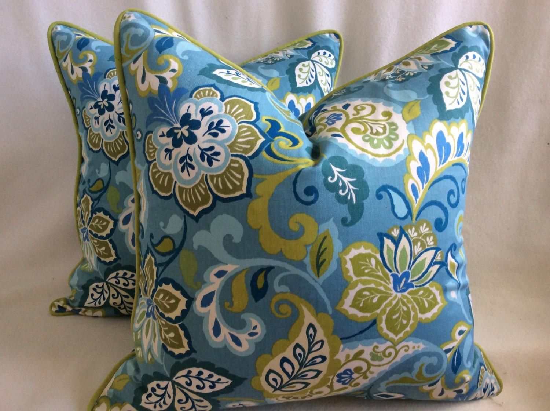 Modern Floral Designer Pillow Cover Set 2pc Tropical