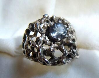Stunning Men's Silver Spinel Ring