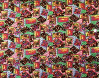 "Multicolor Pure Cotton Indian Designer Fabric 45"" Wide Sewing Crafting Apparel Custion Cover Dress Making Fabric Material By 1 Yard ZBC5418"