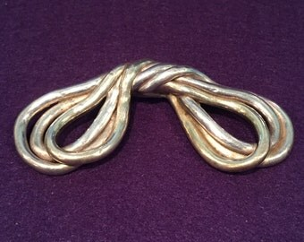 Signed Sterling Bow Pin/Brooch - CA 1960's - Pin107
