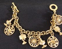 Bracelet has charms Guy laroche Paris - vintage bangle-
