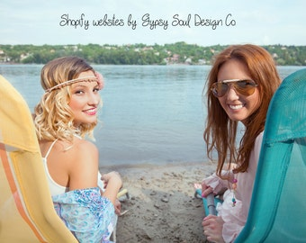 Shopify Package - The Works! Online Store, Web Design, eCommerce Web Site, Boho store, Shop, Boutique, branding, gypsy soul