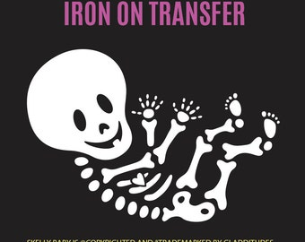 DIY Iron-on Transfer - Skelly Baby Maternity Skeleton