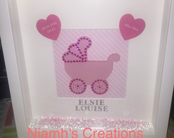 New baby gift / keepsake. Christening / birthday / new baby announcement