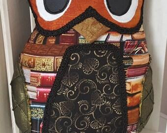 Studious Library Owl Pillow