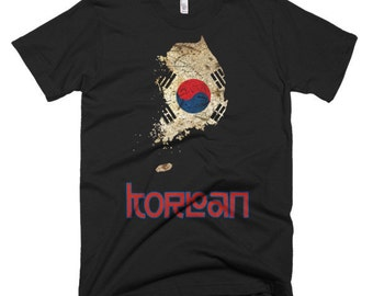 The Korea Flag T-Shirt (men's fitted)