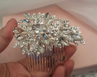 Hair Comb, 9x5 cm, Bridal Rhinestone Comb, Wedding Hairpiece