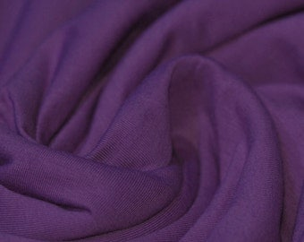 Purple Jersey Cotton Lycra mix.  Knit fabric by the half meter