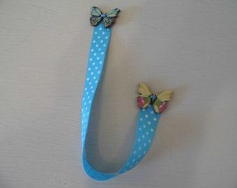 Fly Butterfly Handmade Ribbon Bookmark