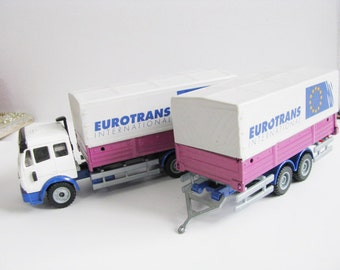 Diecast Siku Eurotrans Lorry and traile Set Toy Collectibles