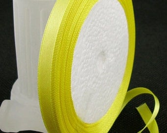Yellow Satin Ribbon 6mm | 1 Roll - 25 Yards | Ribbon Reel | 283-Rib