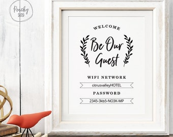 wifi sign etsy. Black Bedroom Furniture Sets. Home Design Ideas
