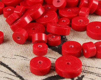 C418 Natural Cinnabar Rondelle Beads Supplies, 10pcs 3mm Red Beads Gemstone Beads for DIY Jewelry Making