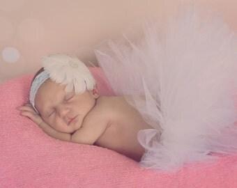 MINI, Newborn tutu for newborn photography, baptism or christening outfit