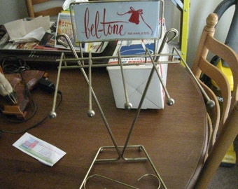 1950's Bel-Tone Seamless Stockings Display Stand Mint Never used