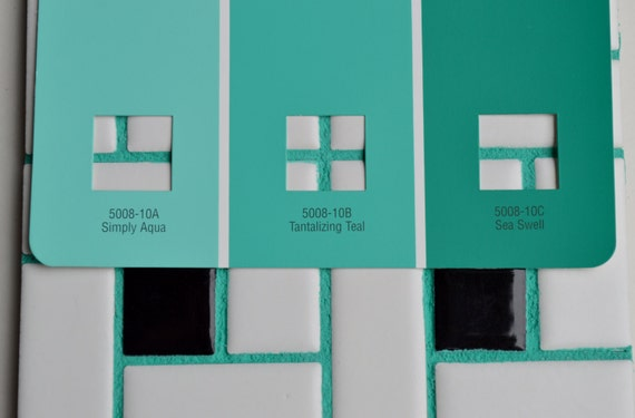 Green Grout Colorant : Meadow green grout sanded with pigment added