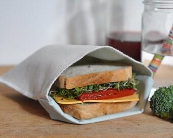Reusable Sandwich Bag - Canvas Circle Print - School Lunch - Snack Bag