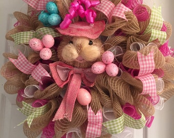 Easter Bunny Face Wreath