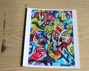 Print exploded view animals and shape abstract Format 8 1/2 by 11 inches