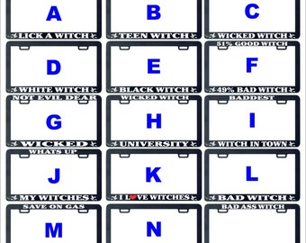 Witch funny assorted license plate frame