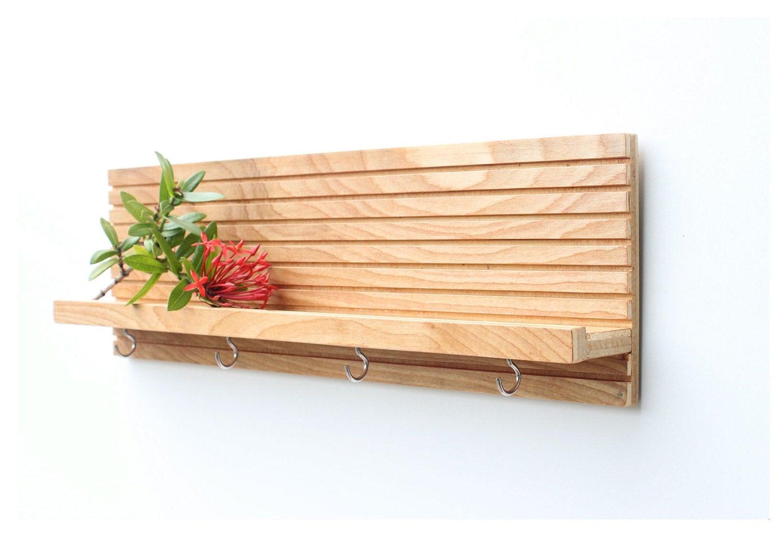 modern wood shelf key holder for wall jewelry rack key. Black Bedroom Furniture Sets. Home Design Ideas