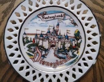 Vintage Disneyland Souvenir Plate from 1955-56