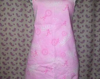 Child pink Alabama football apron (size large)