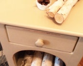 Firewood Storage Cabinet - Stained