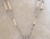 Victorian Double Rabbit Bone Necklace