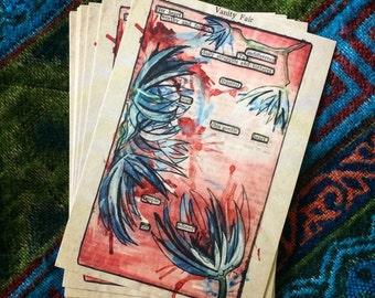 SINGLE Postcard / art / painting / poem / print / gift / boho / décor