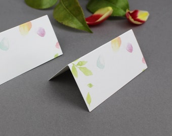 Amelia Wedding Place Cards / Floral Place Cards / Watercolour Place Cards / Pastel Place Cards