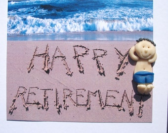 Happy Retirement personalised card by hotdoughcreations