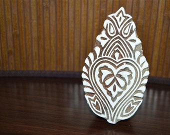 Wooden Stamp - Hand Carved Indian Wood Block Textile Stamps - Fabric Stamp - Textile Printing Block, Stamp Blocks