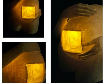 3D Printed Maternity Lamp,  3D Ultrasound |  Baby Lamp | Pregnant Women | Free shipping