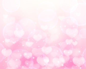Pink Heart Shape Sequin Backdrop - valentine backdrop - Printed Fabric Photography Background G0677
