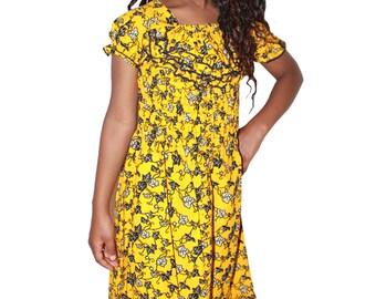 Africa Wax Print Girls  Maxi Dress