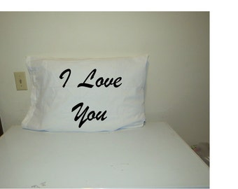I love you and I love you more pillowcase set