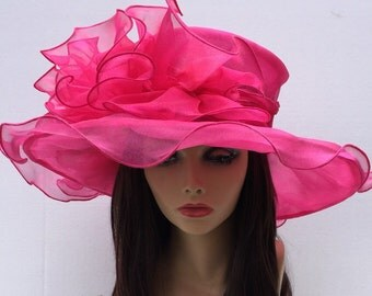 Pink Kentucky Derby Hat, Church hat, Tea Party Hat, Pink Hat, Formal Hat, Fashion Hat, Church Hat, Derby Hat