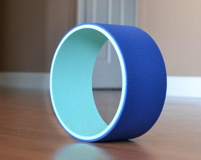 "10"" Yoga Wheel- Teal&Blue"