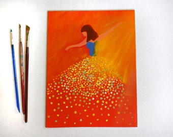 Ballerina painting, dancer painting acrylic fairy dancer