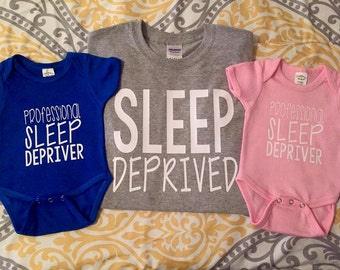 Sleep Deprived T Shirt Professional Sleep Depriver Onesies for Twins!