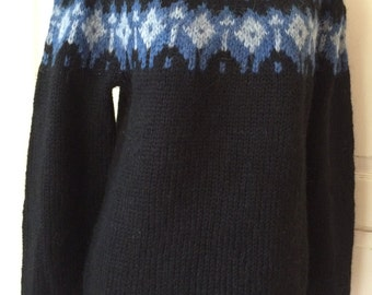 Icelandic Wool Sweater - Hand Knitted With 100% Icelandic Wool